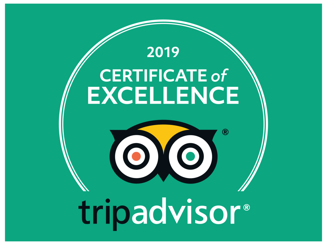 TripAdvidor - Certificate of Excellence